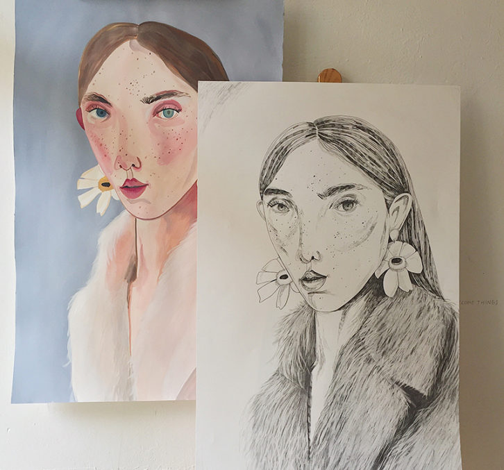 Obras de María Herreros. Imagen cortesía de Pepita Lumier.