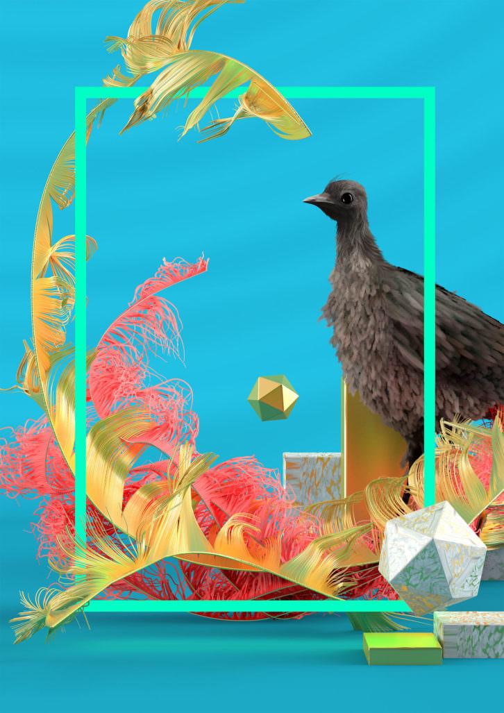 Lyrebird, de Fito Conesa. Imagen cortesía de Espai Tactel.