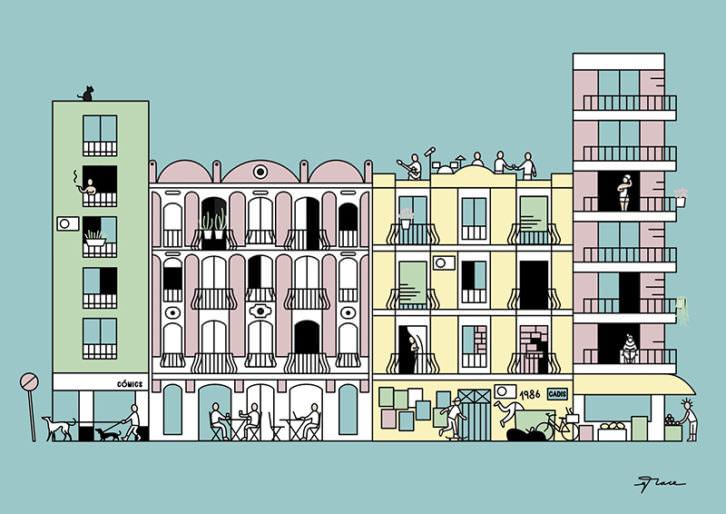 Ilustración de Grace García. Imagen cortesía de Rambleta.