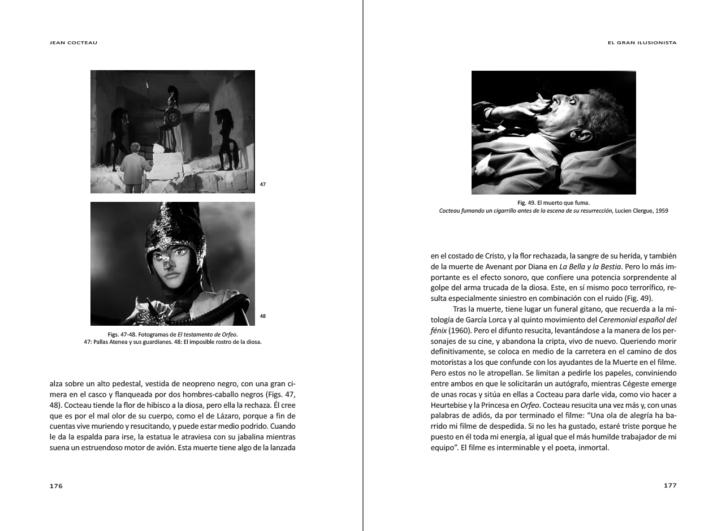 Interior del libro 'Jean Cocteau. El gran ilusionista', de Pilar Pedraza.
