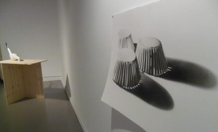 Vista de la exposición 'Dócil', de Carlos Domingo. Fotografía: Makma