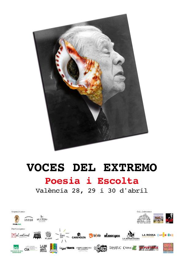 Cartel del encuentro Voces del Extremo. Imagen cortesía de la organización.