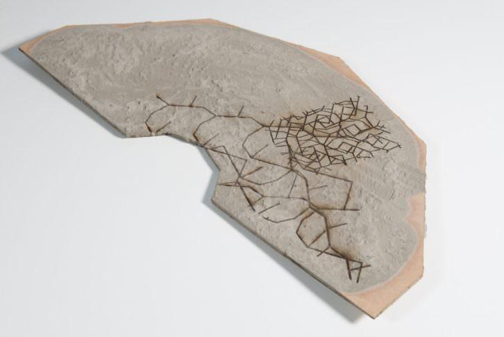 Obra de Urtzi Ibarguen en la exposición 'Vestigios de una cultura contemporánea', en Fundación BilbaoArte. Imagen cortesía del autor.