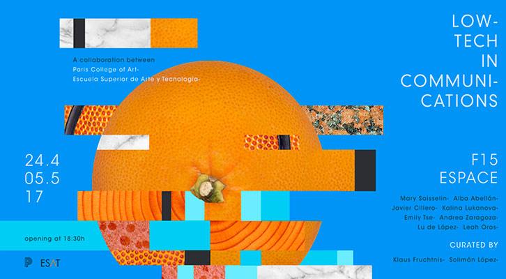 Cartel de la exposición de ESAT y Paris College of Art. Imagen cortesía de ESAT.