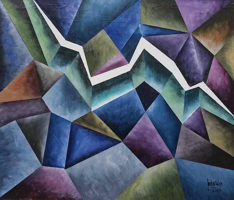Rayo abismal, de Javier Calvo. Imagen cortesía de Galería Cuatro.
