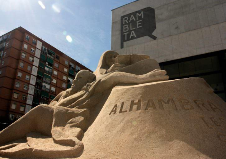 Escultura de arena de Dale Murdock. Imagen cortesía de Rambleta.
