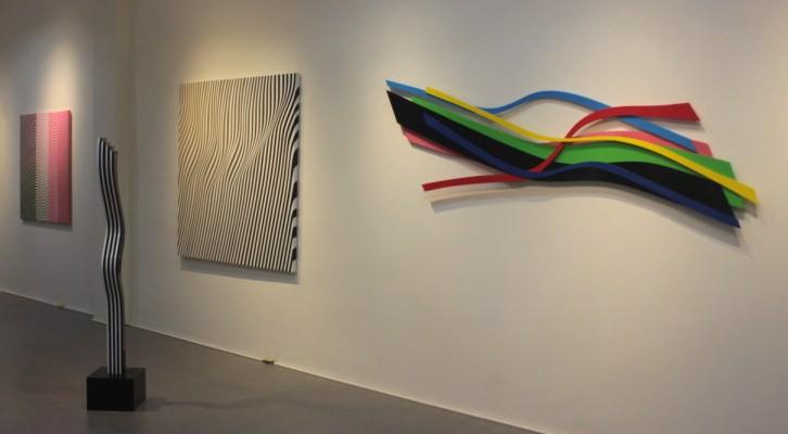 Imagen de la exposición de Cristina Ghetti en el proceso de montaje.