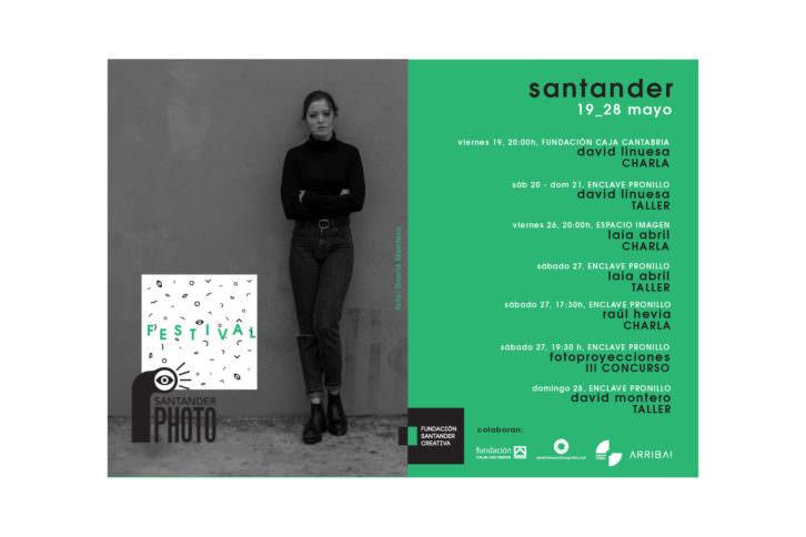 Cartel con el programa de Santander Photo 2017.