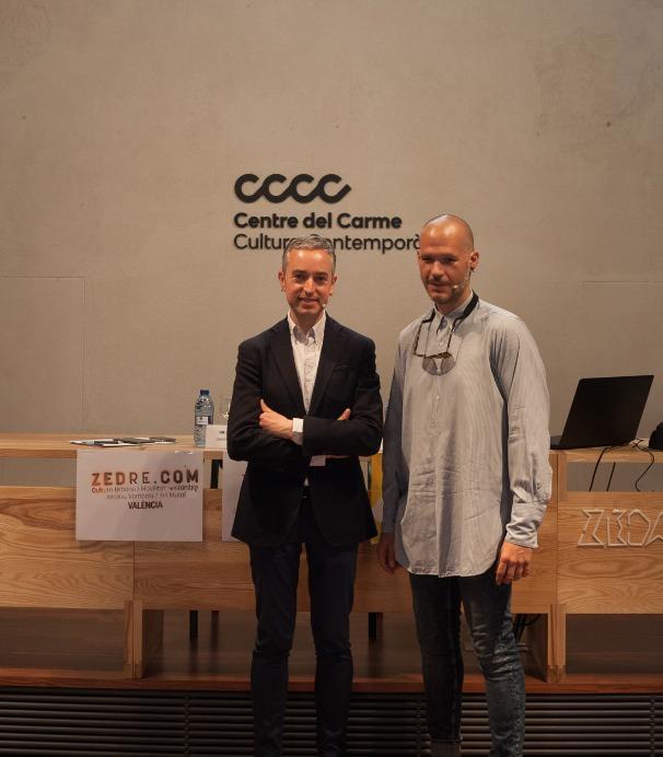 El director del Centre del Carme, José Luis Pérez Pont (i), y Lluis Salvador, director de Zedre. Imagen cortesía del Carme.
