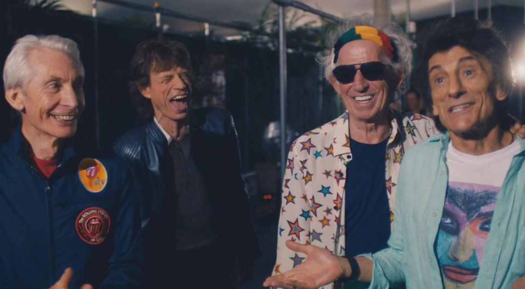 The Rolling Stones en un fotograma de la película documental 'Olé Olé Olé! A trip Across Latin America', de Paul Dugdale. Fotografía cortesía de DocsValència.