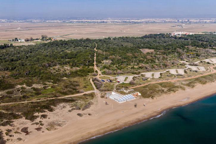 Vista aérea de El Saler. Fotografía: Pere de Prada por cortesía de La Nau.