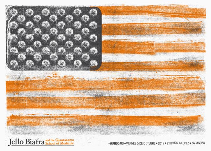 Imagen del cartel de Münster Studio para un concierto del músico norteamericano Jello Biafra, pretérito líder los Dead Kennedys. Fotografía cortesía de los organizadores.