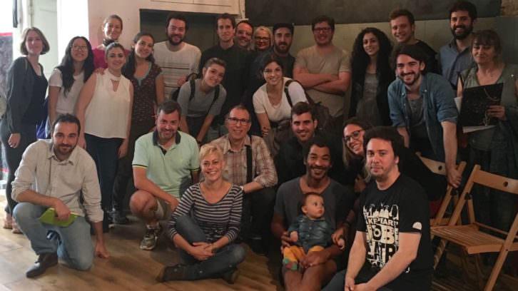 Foto de equipo de Russafa Escènica. Imagen cortesía de la organización.