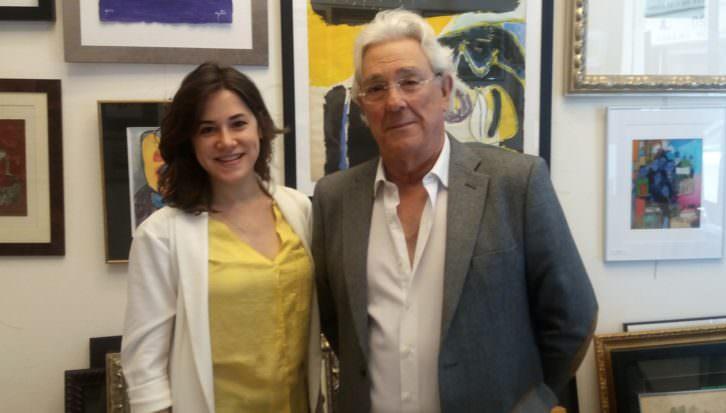 Basilio Fernández junto a Carolina Fernández. Imagen cortesía del autor.