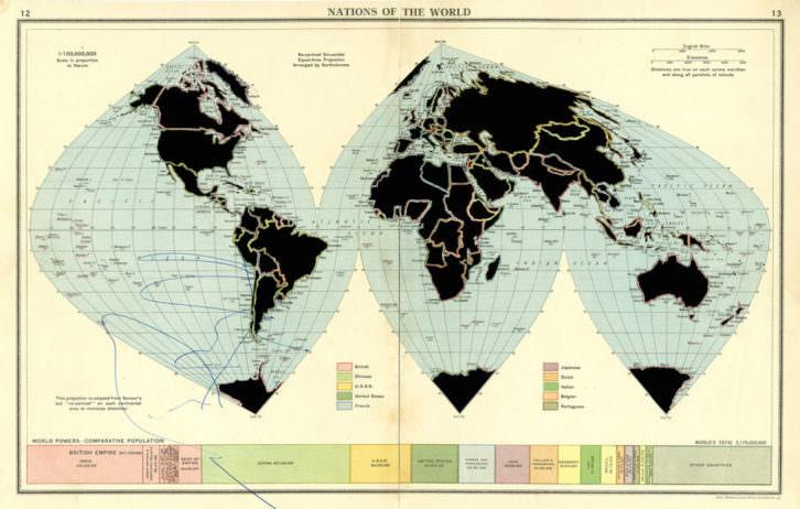 'Nations of the world' Una de las obras que puede verse en la exposición. imagen cortesía Galería Aural.