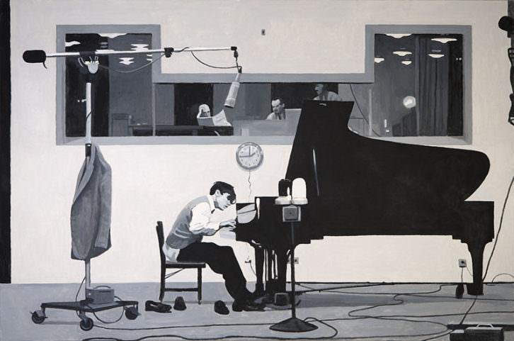 Obra de Xisco Mensua en la exposición 'No Return' de La Nau de la Universitat de València.