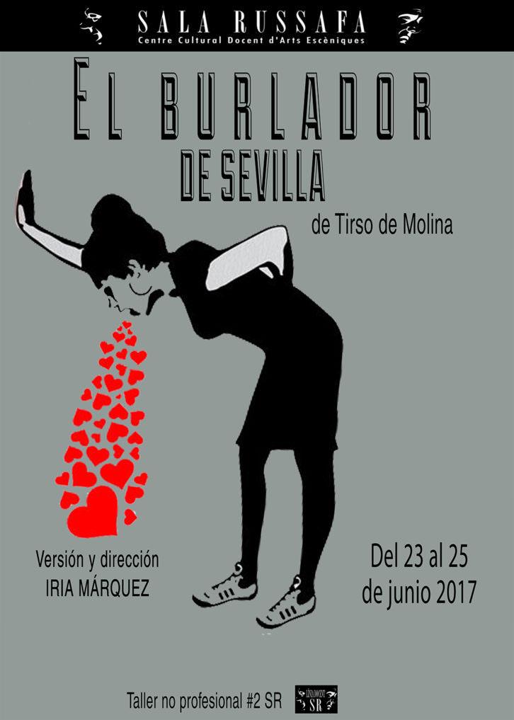Cartel de 'El burlador de Sevilla', de Iria Márquez. Imagen cortesía de Sala Russafa.