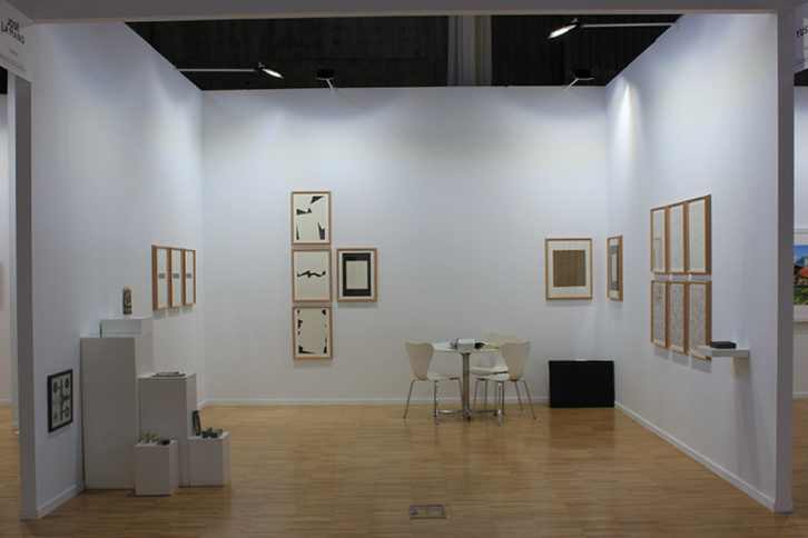La galería José de la Mano con obras del artista Pere Noguera. Arte Santander 2017.