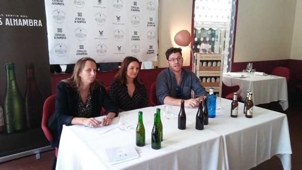 Claudia Peris Balaguer, Catherine Dubois y  Freddy Mas Franqueza en la rueda de prensa de 'La plaza se mueve'. Fotografía: m3 note.
