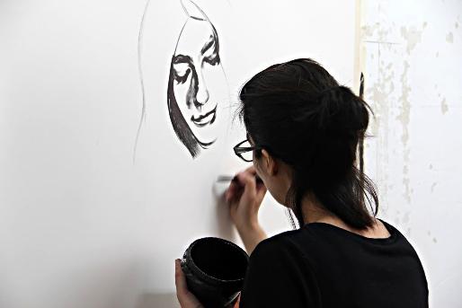Marta Beltrán en su estudio. Fotografía: Marta Dávila