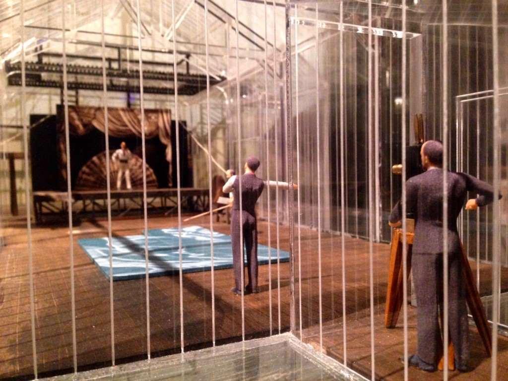 Maqueta del estudio que George Méliès hubo diseñado para la filmación de sus películas en la localidad de Montreuil. Fotografía: Merche Medina.