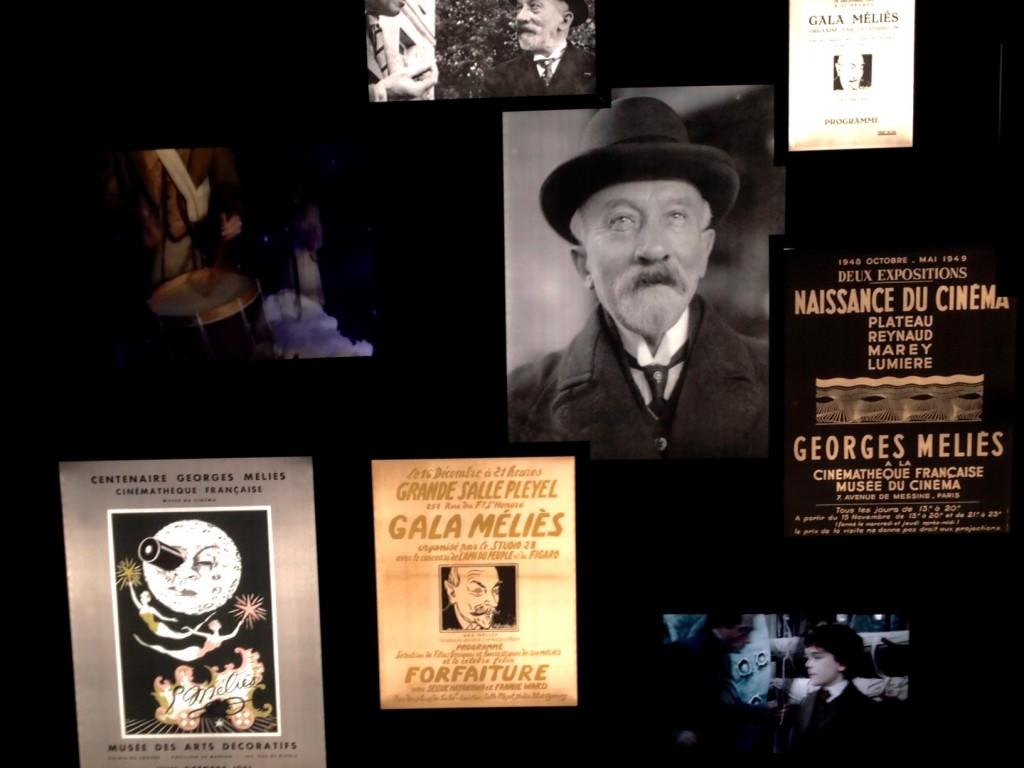 Panel de instantáneas que ilustran la exposición 'Empieza el espectáculo. George Méliès y el cine de 1900'. Fotografía: Merche Medina.
