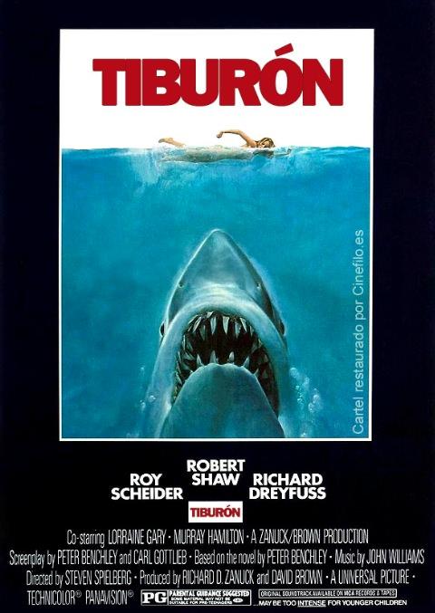 Cartel de 'Tiburón'.