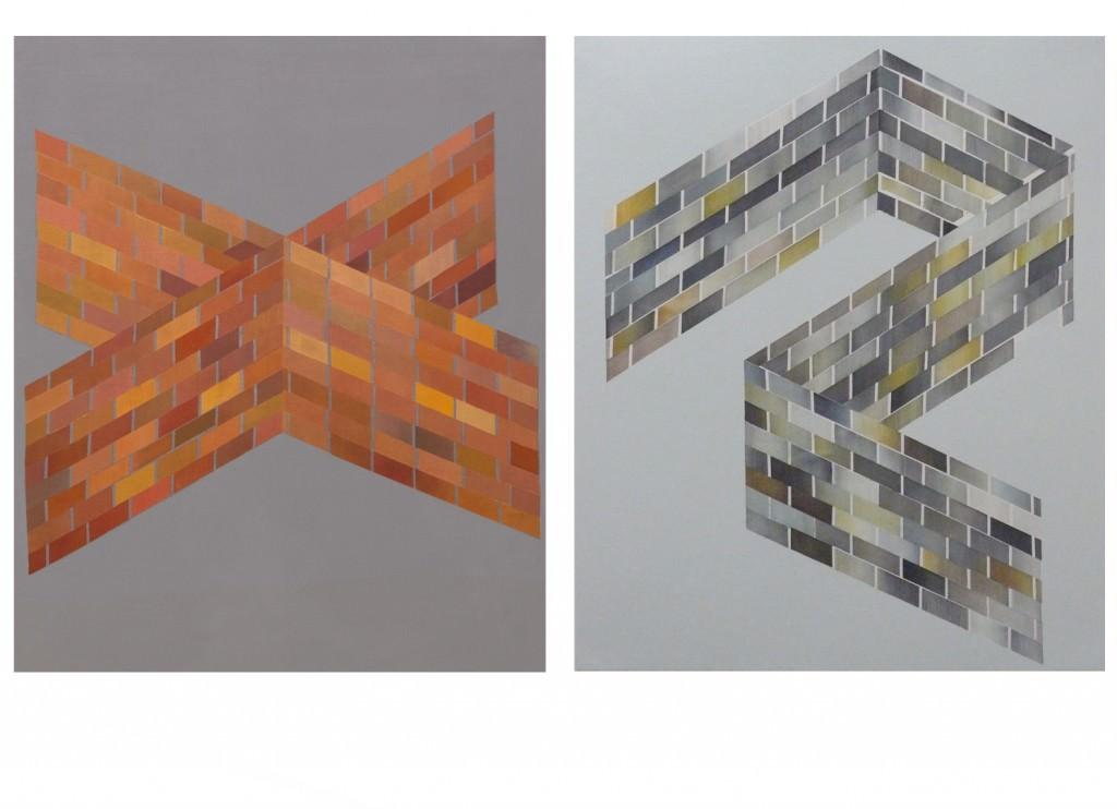 Imagen de parte de las obras presentes en la exposición 'D.u.d.a. Sobre la incertidumbre', de Maite Centol. Fotografía cortesía del CAI.