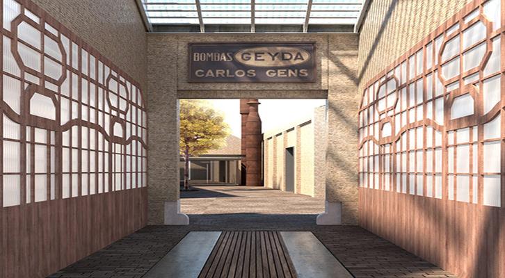 Imagen: Acceso al complejo de Bombas Gens. Cortesía Makma