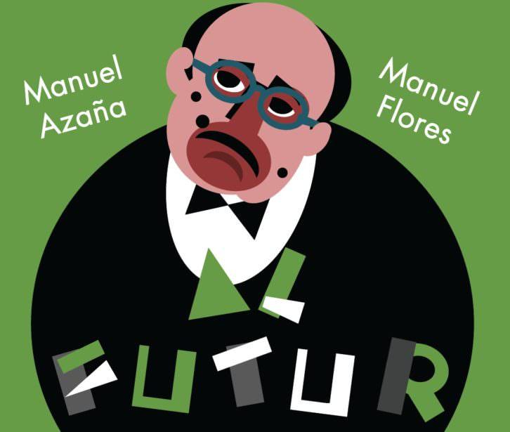 Cartel de la exposición Adéu al futura, de Manuel Flores. Imagen cortesía del Rector Peset.