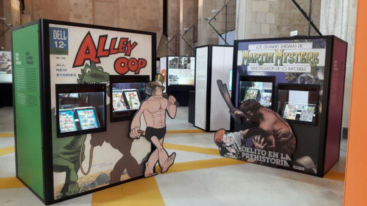 Vista de la exposición 'Prehistòria i Còmic'. Imagen cortesía de la Diputación de Valencia.