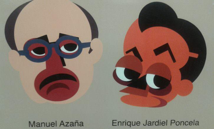 Ilustración de la muestra Adéu al futura, de Manuel Flores, en el Colegio Mayor Rector Peset.