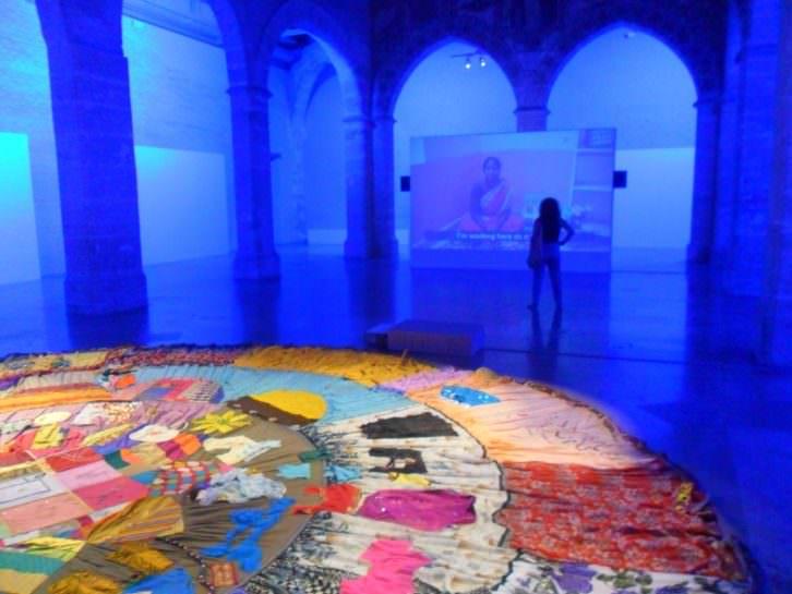 Vista de la exposición 'Open Beds' en el Almudín de Valencia.