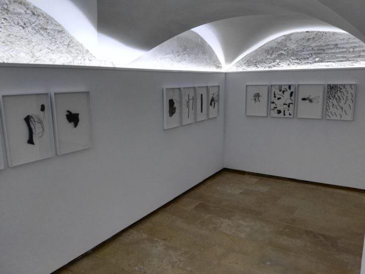 Vista de la exposición de Pepe Gimeno. Imagen cortesía del E CA de Riba-roja.