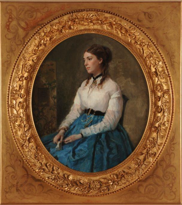 Raimundo de Madrazo Garreta.Margarita Tewart de Madrazo. Imagen cortesía del MUBAG.