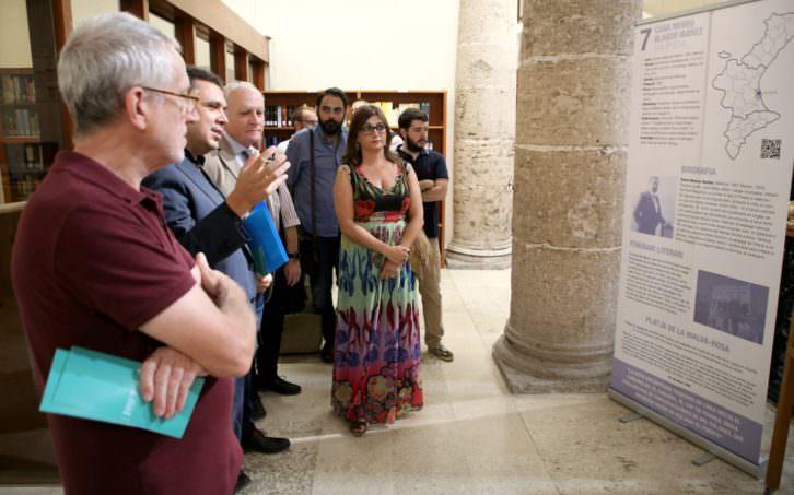 Representantes institucionales durante la presentación de la actividad. Imagen cortesía de la Generalitat Valenciana.