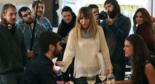 Ana Ramón Rubio durante el rodaje de 'Todos queríamos matar al presidente'. Imagen cortesía de la productora.