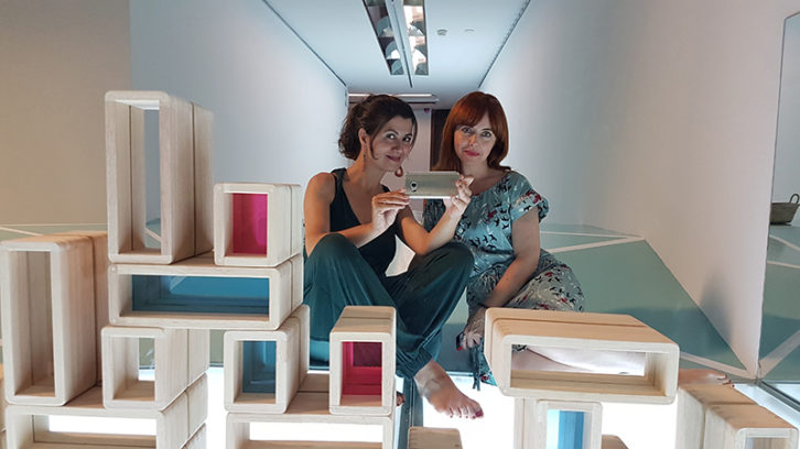 Sonia Rayos y Silvana Andrés. Imagen cortesia del autor.