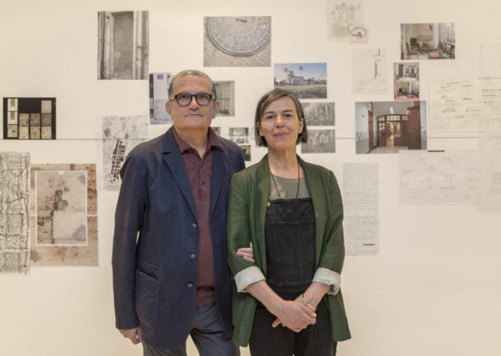 Carmela García junto a Jose  Miguel Cortés. Imagen cortesía del IVAM.