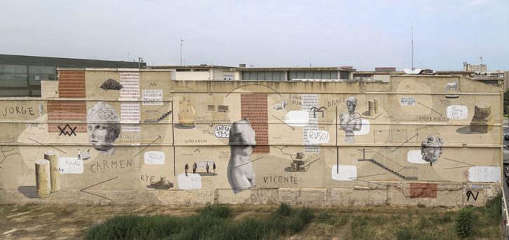 Mural de Escif en la pared trasera del IVAM. Imagen cortesía del IVAM.
