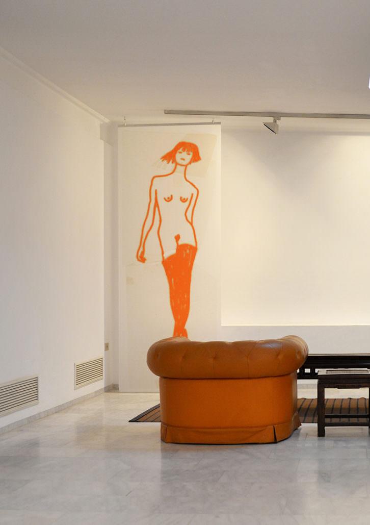 Obra de Ida Applebroog. Imagen cortesía de Galería Ana Serratosa.
