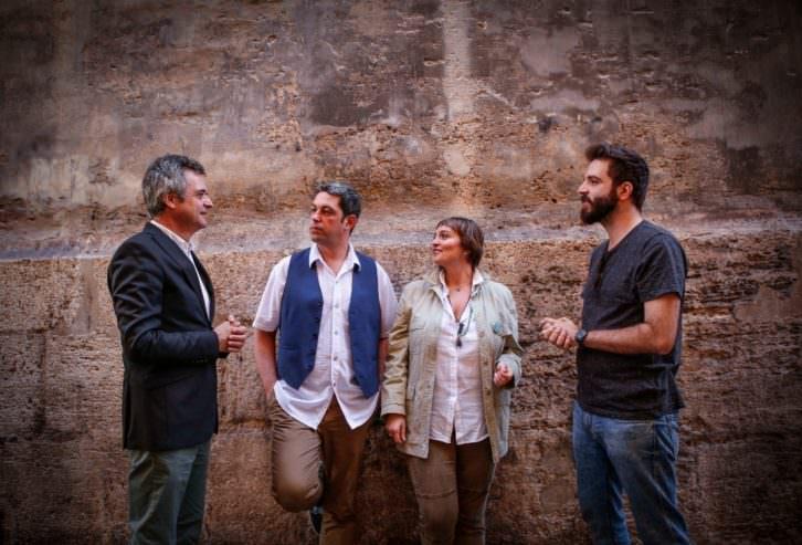 De izda a dcha, Vicente Chambó, Jose Ramón Alarcón, Merche Medina e Ismael Teira. Foto: José Cuéllar.