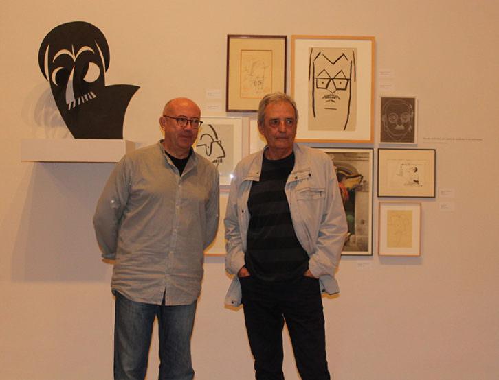 Artur Heras (derecha) y Anacleto Ferrer. Imagen cortesía de La Nau.