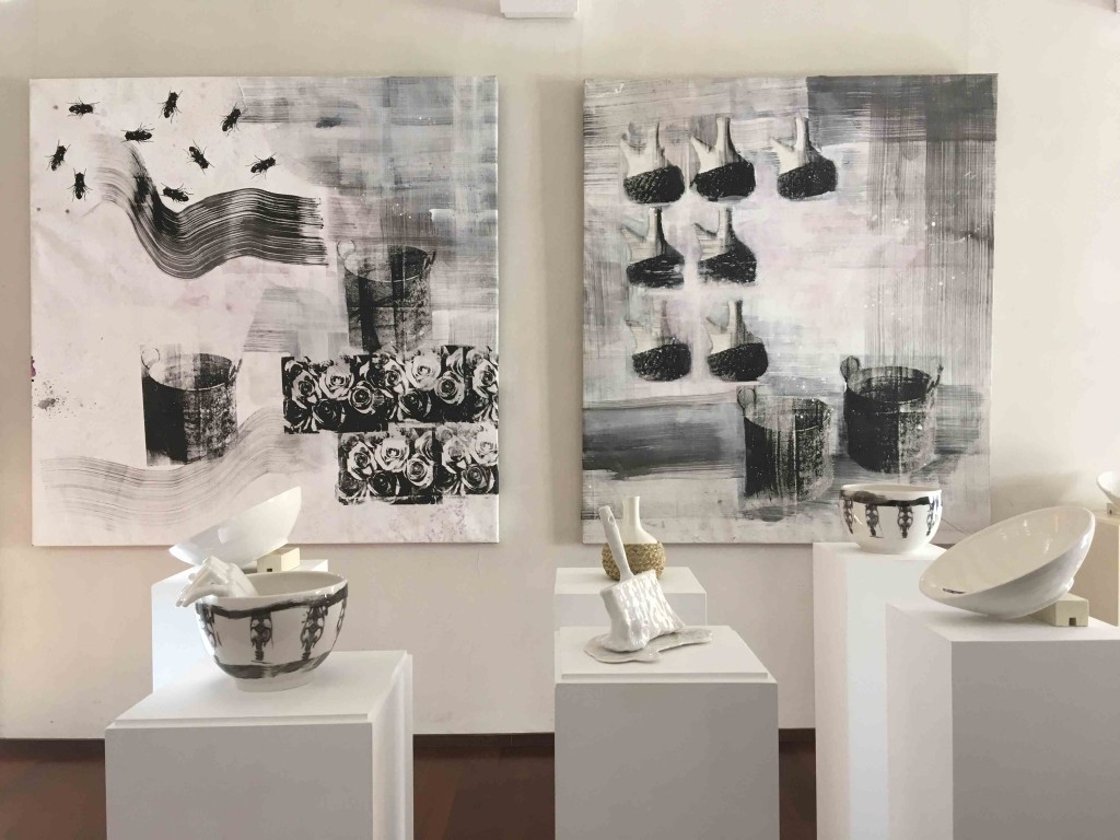 Imagen de diversas obras presentes en la exposición 'Rendez-vous. Cita a Llíria'. Fotografía: Merche Medina.