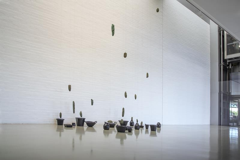 Vista de la exposición 'Pneuma', de Pablo Capitán del Río. Imagen cortesía de Art Mustang.
