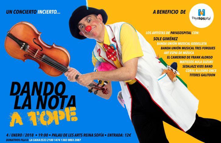 Cartel del concierto organizado por Payasospital.