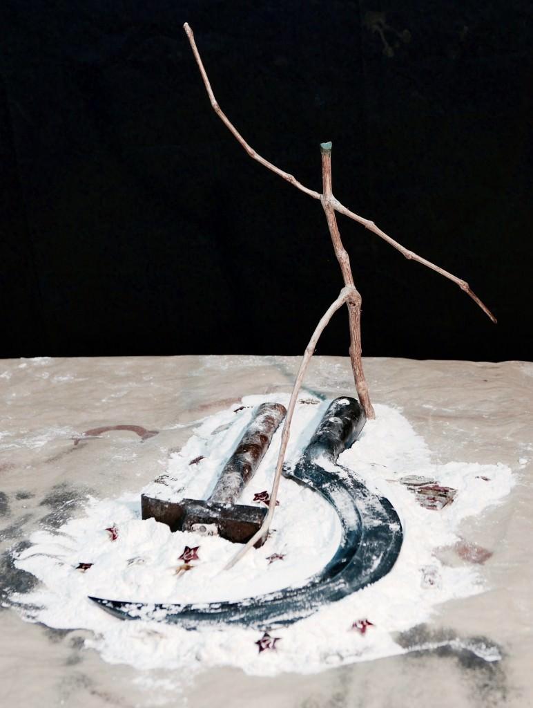 Imagen de la obra 'Siguel el rastro', de Emilio Gallego, presente en la exposición. Fotografía cortesía del artista.