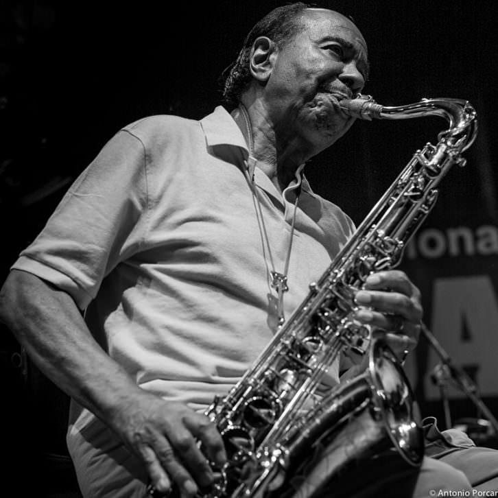 Benny Golson. Fotografía de  Antonio Porcar por cortesía de Jimmy Glass.