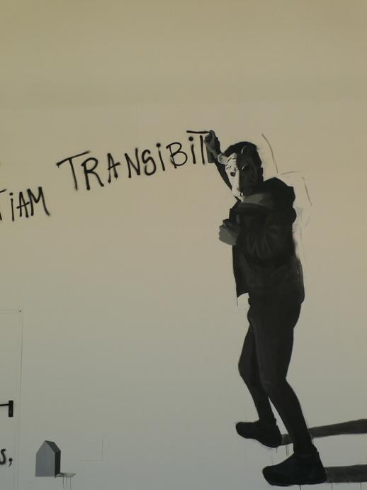 """""""Introspección"""" Graffiti del jovencísimo Juan Pablo Bracho presentado a Fresh Art, 2017. Fotografía, archivo MAKMA."""