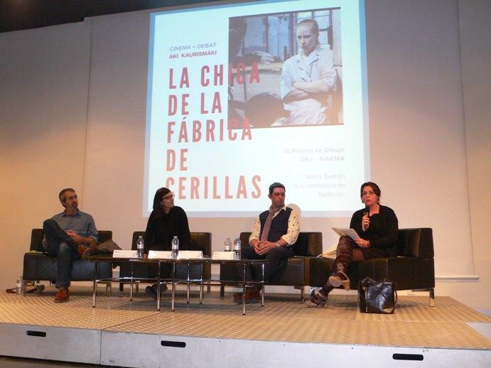 Di izquierda a derecha, Salva Torres, Marta Beltrán, José Ramón Alarcón y Begoña Siles en la mesa redonda del MuVIM. Fotografía Vicente Chambó.